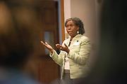 Beatrice Selotlegeng, Director, Cardinal Health Junior Executive Business Program.<br /> Coordinator, Diversity Recruitment and Retention Programs speaks to participants of the Junior Executive Business Program. Photo by Ben Siegel/ Ohio University