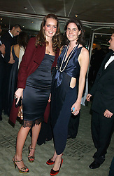 Left to right, MISS INDIA CLARKE and LADY LAURA CATHCART at the Chain of Hope 10th Anniversary Ball held at The Dorchester, Park Lane, London on 1st November 2005.<br />