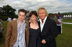 Left to right, LIAM HART and his parents ROBRET & MAGGIE HART he was in rock group Bad Company at the Kuoni World Class Polo Day at Hurtwood Park Polo Club, Surrey on 28th May 2006.<br /><br />NON EXCLUSIVE - WORLD RIGHTS