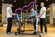 The HAL, Hybrid Assistive Limb, is a cyborg-type robot, by which a wearer's bodily functions can be improved, supported and enhanced. It has been developed by Japan's Tsukuba University and the robotics company Cyberdyne.