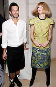 Marc Jacobs and Anna Wintour pose at 'The Model as  Muse: Embodying Fashion' Press conference at the Costume Institute in the Metropolitan Museum of Art  New York City, USA on May 4, 2009