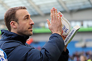 Glenn Murray with the Sky Bet Man of the Match trophy during the EFL Sky Bet Championship match between Brighton and Hove Albion and Queens Park Rangers at the American Express Community Stadium, Brighton and Hove, England on 27 December 2016.