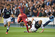 Kyel Reid of Bradford City collides with Chris Taylor of Millwall during the Sky Bet League 1 Playoff Semi-final Leg Two at The Den, London<br /> Picture by Alan Stanford/Focus Images Ltd +44 7915 056117<br /> 20/05/2016