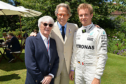 Bernie Eccleston, Lord March and Nico Rosberg and e at the Cartier Style et Luxe at the Goodwood Festival of Speed, Goodwood, West Sussex, England. 2 July 2017.<br /> Photo by Dominic O'Neill/SilverHub 0203 174 1069 sales@silverhubmedia.com