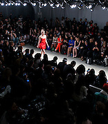 Designer Riza Manalo show take the runway at Nolcha Fashion Week New York Fall-Winter 2014. Nolcha Fashion Week New York is a leading award winning event, held during New York Fashion Week, for independent fashion designers to showcase their collections to a global audience of press, retailers, stylists and industry influencers. Over the past six years Nolcha Fashion Week: New York has established itself as a platform of discovery promoting innovative fashion designers through runway shows and exhibition. Nolcha Fashion Week: New York has built an acclaimed reputation as a hot incubator of new fashion design talent and is officially listed by New York City Economic Development Corporation; offering a range of cost effective options to increase designers recognition and develop their business. (Photo: www.JeffreyHolmes.com)