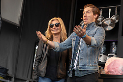 May 25, 2018 - Napa, California, U.S - KATHY WHITE and son SHAUN WHITE on the Culinary Stage during BottleRock Music Festival at Napa Valley Expo in Napa, California (Credit Image: © Daniel DeSlover via ZUMA Wire)