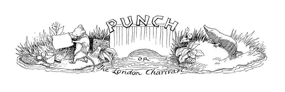 Punch or The London Charivari (header showing a mouse and mole spring cleaning)