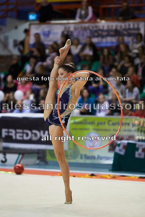 Bevilacqua Sofia during the Italian Rhythmic Gymnastics Championship 2018 in Fabriano.