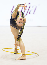 Spela Kratochwill of Slovenia competes during 27th MTM - International tournament in rhythmic gymnastics Ljubljana, on April 19, 2014 in Arena Krim, Ljubljana, Slovenia. Photo by Vid Ponikvar / Sportida