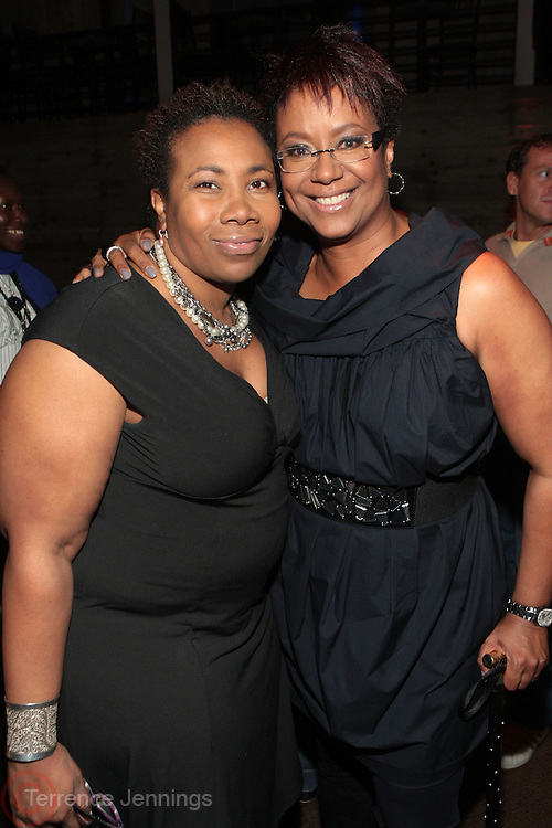 28 April 2011- New York,  NY-  l to r: Margo Lewis and Harriette Cole at The Sparkling Celebration for the Birthday of Harriette Cole held at the Galapagos Art Space on April 27, 2011 in Brooklyn, NY Photo Credit: Terrence Jennings