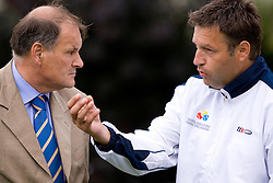 President of TZS Marko Umberger and Director TZS Zoran Kofol at 2nd Round of 2nd Euroafrican group of Davis cup tennis match between Slovenia and Lithuania, on July 10 2009, in Otocec, Novo mesto, Slovenia. (Photo by Vid Ponikvar / Sportida)