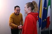 Martina Kacerik<br /> Raduno Nazionale Italiana Femminile Senior - Visita al Sindaco di Montegrotto Terme<br /> FIP 2017<br /> Montegrotto Terme, 27/02/2017<br /> Foto Ciamillo - Castoria