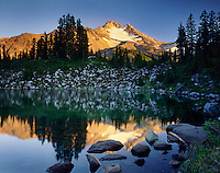 Mount Jefferson from Bays Lake in Jefferson Park, Mount Jefferson Wilderness Oregon