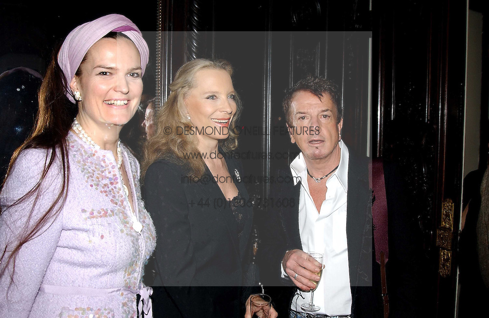 Left to right, EMMA KITCHENER-FELLOWES, PRINCESS MICHAEL OF KENT and NICKY HASLAM at a party to celebrate the publication of Andrew Robert's new book 'Waterloo: Napoleon's Last Gamble' and the launch of the paperback version of Leonie Fried's book 'Catherine de Medici' held at the English-Speaking Union, Dartmouth House, 37 Charles Street, London W1 on 8th February 2005.<br />