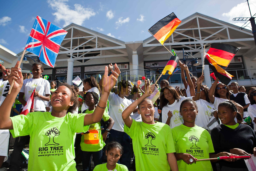 Children from the Diasa Primary School enjoy the festivities during the pre race events held in and around Cape Town prior to the start of the 2011 Absa Cape Epic Mountain Bike stage race held in The Western Cape, South Africa between the 27th March and the 3rd April 2011..Photo by Nick Muzik/Cape Epic/SPORTZPICS