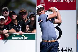 November 15, 2018 - Sydney, NSW, U.S. - SYDNEY, AUSTRALIA - NOVEMBER 15: Cameron Smith (AUS) on the third tee at Day 1 of The Emirates Australian Open Golf on November 15, 2019, at The Lakes Golf Club in Sydney, Australia. (Photo by Speed Media/Icon Sportswire) (Credit Image: © Speed Media/Icon SMI via ZUMA Press)