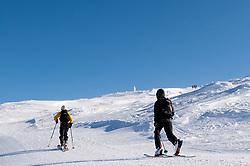 THEMENBILD - Skitourengeher auf dem Weg zur Gipfelstion des Aareskutan, 16. März 2018. Die alpinen Ski- Weltmeisterschaften 2019 finden von 05. bis 17. Februar in Aare /Schweden statt // Skitourist on the way to the summit of Aareskutan, pictured on Tuesday, March 13, 2018. The Alpine Skiing World Championships 2019 will take place from 05 to 17 February in Aare. Sweden on 2017/03/16. EXPA Pictures © 2018, PhotoCredit: EXPA/ Johann Groder