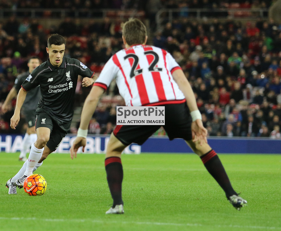 Philippe Coutinho in action  during the Sunderland FC v Liverpool FC English Premier League 30th March 2015...©Edward Linton | SportPix.org.uk