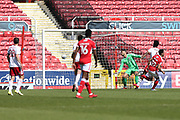 Swindon Keshi Anderson (30) scores a goal 2-0 first half during the EFL Sky Bet League 2 match between Swindon Town and Accrington Stanley at the County Ground, Swindon, England on 5 May 2018. Picture by Gary Learmonth.