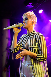 EXCLUSIVE CONTENT. EDITORIAL USE ONLY. Katy Perry performing at the launch party for the new Capital Breakfast show with Roman Kemp, at the small Water Rats pub in London, the venue where she made her UK debut 10 years ago. Picture date: Thursday May 25th, 2017. Photo credit should read: Matt Crossick/ EMPICS Entertainment.