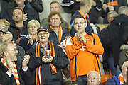 Blackpool supporters pre-match  during the EFL Sky Bet League 1 match between Blackpool and Rochdale at Bloomfield Road, Blackpool, England on 26 September 2017. Photo by Daniel Youngs.
