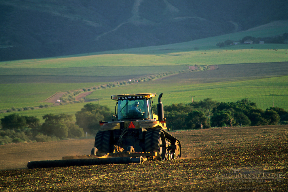 Tractor in field, near Soledad, Monterey County, California