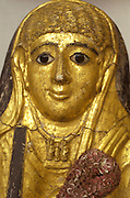 EGYPT, CAIRO, ANCIENT ART Museum of Egyptian Antiquities; Greco/Roman mummy mask from Fayum