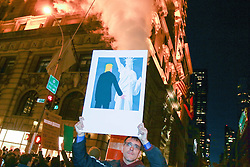 November 12, 2016 - Manhattan, New York, U.S - Protestors took to the streets for the 4th day in a row, demonstrating against the election of Donald Trump. Holding signs and chanting, they made their voices heard along 5th Ave, where the march was blocked by police in front of Trump Tower. (Credit Image: © Nancy Siesel via ZUMA Wire)