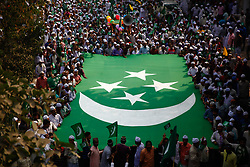November 21, 2018 - Dhaka, Bangladesh - Bangladeshi Muslims participate in a rally to mark Eid-e-Miladunnabi, the birthday of the Prophet Mohammad in Dhaka, Bangladesh, on 21 November 2018. Muslims across the world observe the 12th of Rabi-ul-Awwal, the birth anniversary of Prophet Mohammad, as Eid-e-Miladunnabi. The Prophet died on the same day as that of his birth at the age of 63. The day is a public holiday in Muslim-majority Bangladesh. (Credit Image: © Mehedi Hasan/NurPhoto via ZUMA Press)