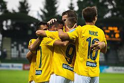Team Bravo celebrating during football match between NŠ Mura and Bravo in 2nd Round of Prva liga Telekom Slovenije 2019/20, on July 21, 2019 in Fazanerija, Murska Sobota, Slovenia. Photo by Blaž Weindorfer / Sportida