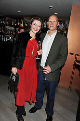 CAMILLA RUTHERFORD and DOMINIC BURNS at a party to launch Senkai - London's first modern Japanese-inspired restaurant at 65 Regent Street, London on 26th October 2011.