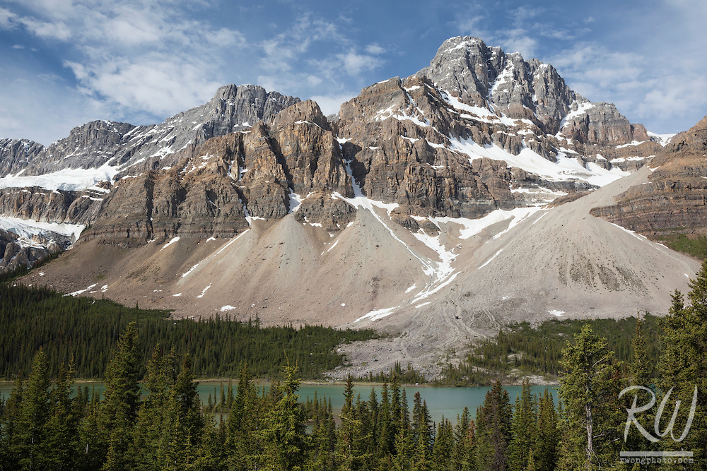 Bow Lake, Crowfoot Mountain and Glacier Overlook, Banff National Park, Alberta, Canada