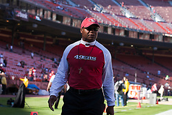 October 10, 2010; San Francisco, CA, USA;  San Francisco 49ers head coach Mike Singletary walks along the sidelines before the game against the Philadelphia Eagles at Candlestick Park. The Eagles defeated the 49ers 27-24.
