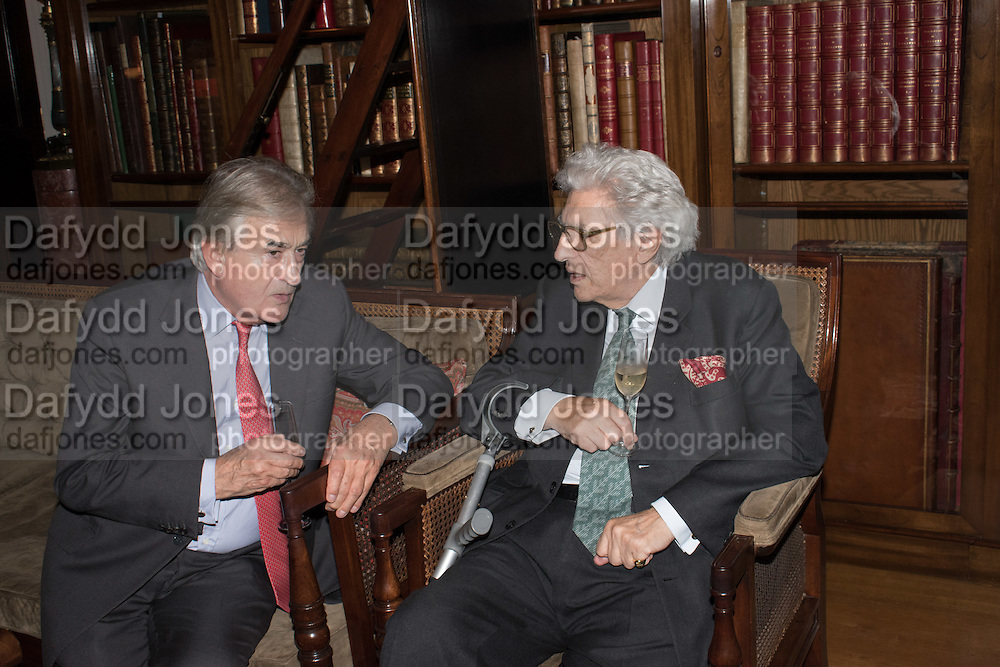 ANTONY BEEVOR; LORD GOWRIE, Everyman 25th Anniversary party, Spencer House. St. James' Place. London. SW1. 26 October 2016