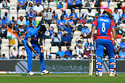 Jasprit Bumrah of India reacts after after an unsuccessfull lbw appeal during the ICC Cricket World Cup 2019 match between India and Afghanistan at the Ageas Bowl, Southampton, United Kingdom on 22 June 2019.