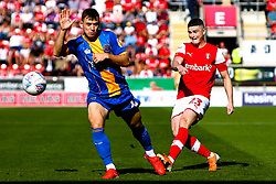 Jake Hastie of Rotherham United whips in a cross - Mandatory by-line: Ryan Crockett/JMP - 21/09/2019 - FOOTBALL - Aesseal New York Stadium - Rotherham, England - Rotherham United v Shrewsbury Town - Sky Bet League One