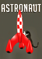 It isn't difficult at all to imagine cats being amazing astronauts. After all, you are talking about animals that are well known for their insatiable curiosity. That sounds like a pretty good quality to have for anyone who is planning to explore the far reaches of outer space. This piece combines a beautiful cat with a vintage, classic science fiction-style rocket ship. If the cat is planning to travel the galaxy, it better hurry up, and get inside that rocket! This is a fine art piece that is absolutely perfect for anyone who likes a little whimsy in their art. .<br />