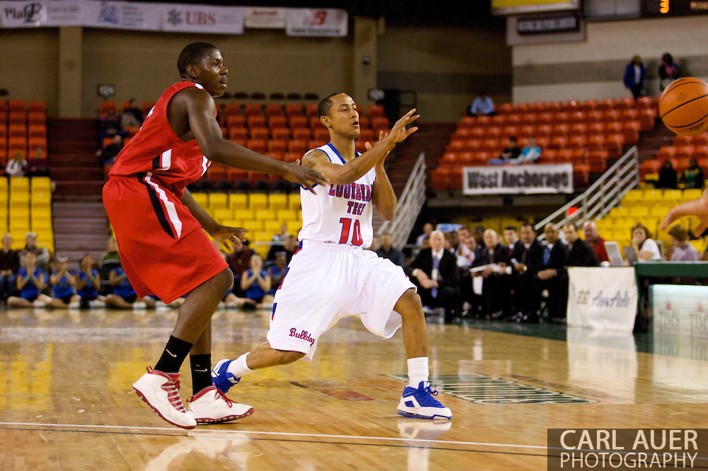 November 27, 2008: Louisiana Tech guard Yonas Berhe (10) in the opening round of the 2008 Great Alaska Shootout at the Sullivan Arena.