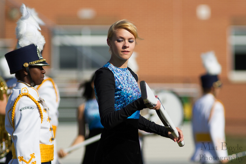 Woodbury High School's marching band performs at the South Jersey Chapter Championships held at Clearview High School on Sunday October 21, 2012. (photo / Mat Boyle)