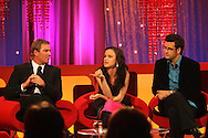 SHANE WARNE JULIET LEWIS AND MARCUS BRIGSTOCKE ON THE BIGGER PICTURE WITH GRAHAM NORTON.26.9.06.PIX STEVE BUTLER