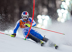 22.02.2014, Rosa Khutor Alpine Resort, Krasnaya Polyana, RUS, Sochi, 2014, Slalom, Herren, 1. Durchgang, im Bild Manfred Moelgg (ITA) // Manfred Moelgg of Italy in action during the 1st run of mens Slalom to the Olympic Winter Games Sochi 2014 at the Rosa Khutor Alpine Resort, Krasnaya Polyana, Russia on 2014/02/22. EXPA Pictures © 2014, PhotoCredit: EXPA/ Johann Groder