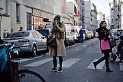 Street scene in Paris, France, close to Caf&eacute; de Anges, Rue de la Roquette, three weeks after the terror attacks of November 13, 2015.<br /> <br /> &copy;peter-juelich.com