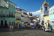 Salvador, Brazil, October 2004.  The streets of Salvadors historical center are lined with colorful buildings from colonial times.  Photo by Frits Meyst/Adventure4ever.com