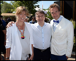 Ben Fogle and his wife Marina with Raymond Blanc at the VIP preview day at the Chelsea Flower Show. London, United Kingdom. Monday, 19th May 2014. Picture by Andrew Parsons / i-Images