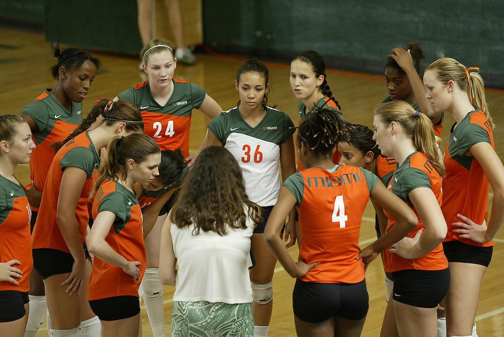 University of Miami Volleyball vs Clemson, November 5, 2006.