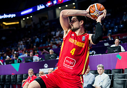 Nikola Vucevic of Montenegro during basketball match between National Teams of Latvia and Montenegro at Day 11 in Round of 16 of the FIBA EuroBasket 2017 at Sinan Erdem Dome in Istanbul, Turkey on September 10, 2017. Photo by Vid Ponikvar / Sportida
