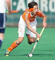 ROTTERDAM -   Valentin Charbon (Neth)   Practice Match  Hockey : Netherlands Boys U16  v England U16 . COPYRIGHT KOEN SUYK