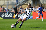 Notts County Ladies forward Rachel Williams passes the ball during the FA Women's Super League match between Chelsea Ladies FC and Notts County Ladies FC at Staines Town FC, Staines, United Kingdom on 6 September 2015. Photo by Mark Davies.