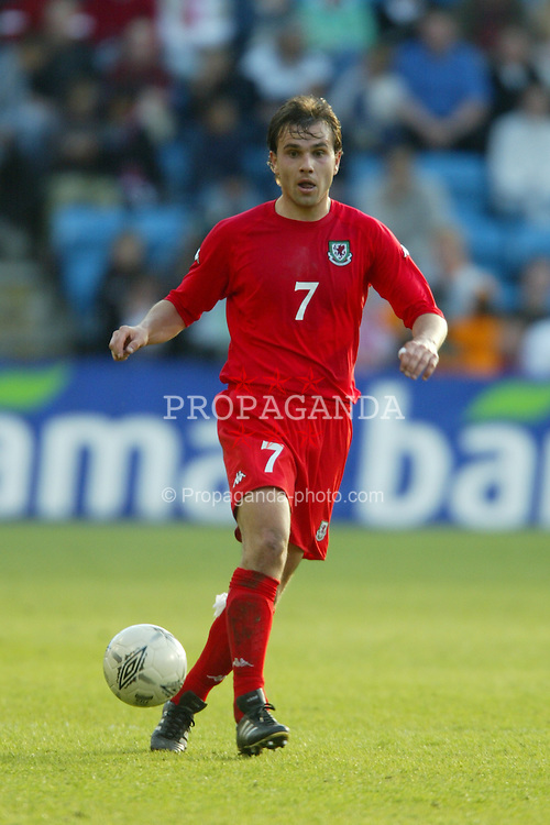 OSLO, NORWAY - Thursday, May 27, 2004:  Wales' Carl Fletcher in action against Norway during the International Friendly match at the Ullevaal Stadium, Oslo, Norway. (Photo by David Rawcliffe/Propaganda)