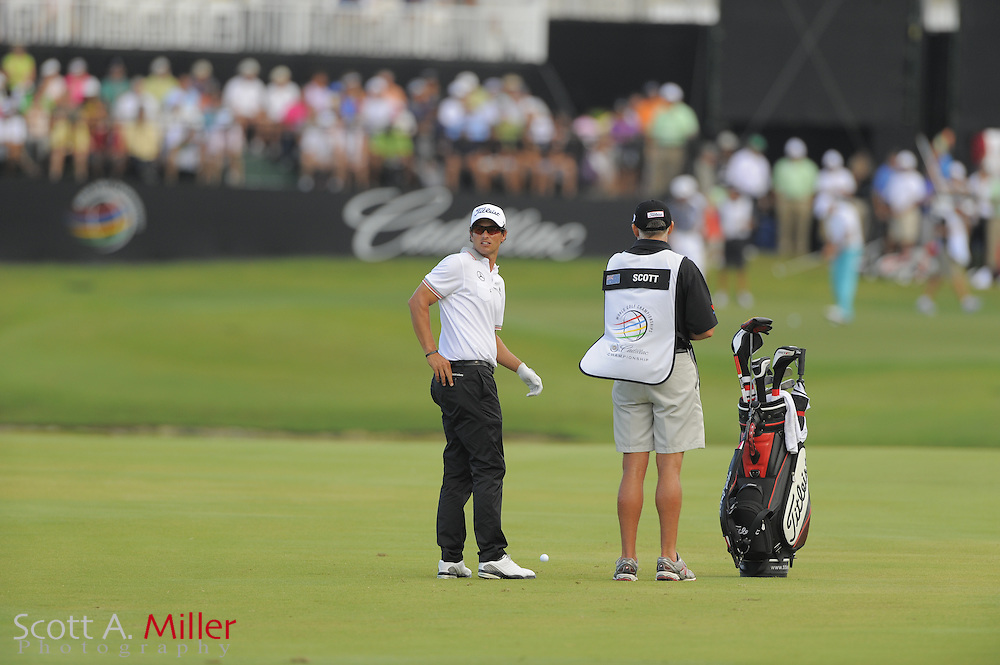 Adam Scott during the second round of the World Golf Championship Cadillac Championship on the TPC Blue Monster Course at Doral Golf Resort And Spa on March 9, 2012 in Doral, Fla. ..©2012 Scott A. Miller.